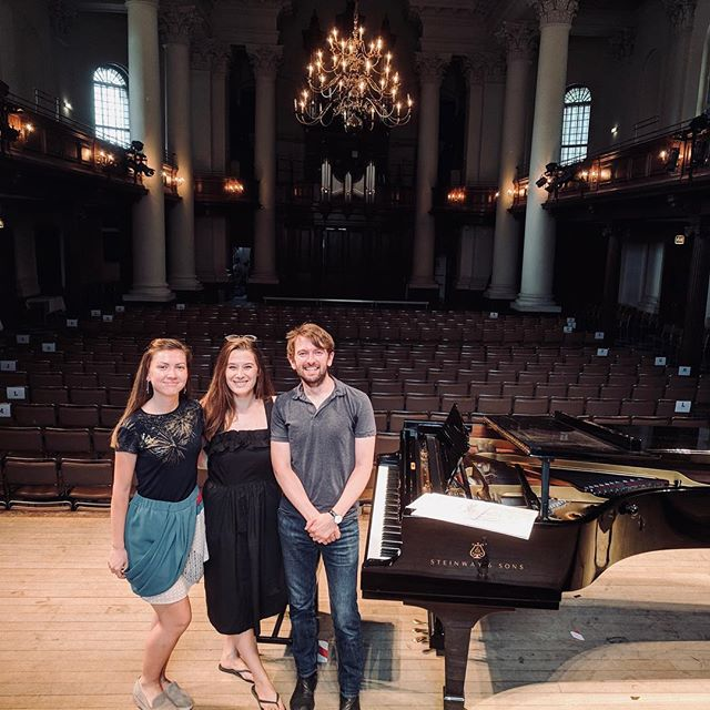 Filming with @veritywingate & @marinastaneva for @classicfm at @stjohnssmithsquare