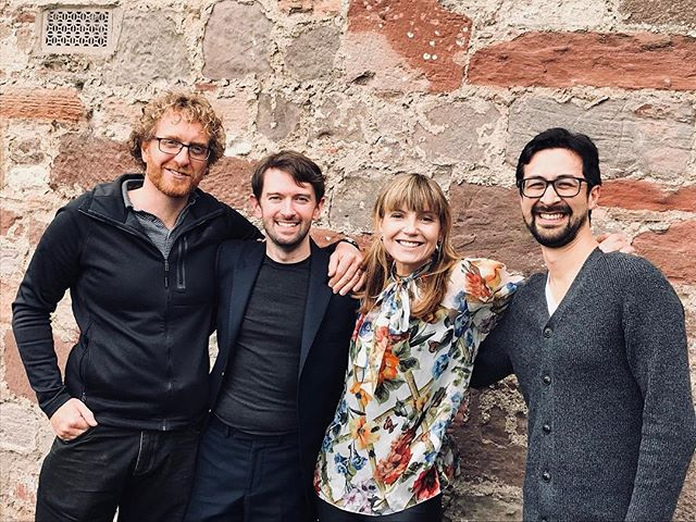 Our concerts from @lammermuirfestival will be broadcast on @bbcradio3 next week from Tuesday. The first few concerts were with these lovely people and featured a new commission from our good pal Tom Poster. @claireboothsings @alisdairhogarth #joshuaellicott