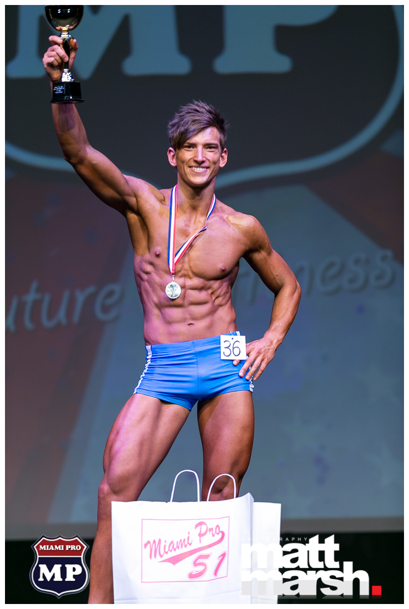 Donatas Simkus won fitness model competition