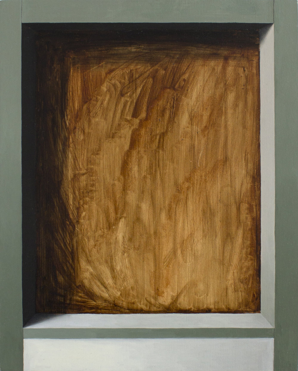 Exposed Interior No. 1   2017  Oil on wood panel  10 x 8 in