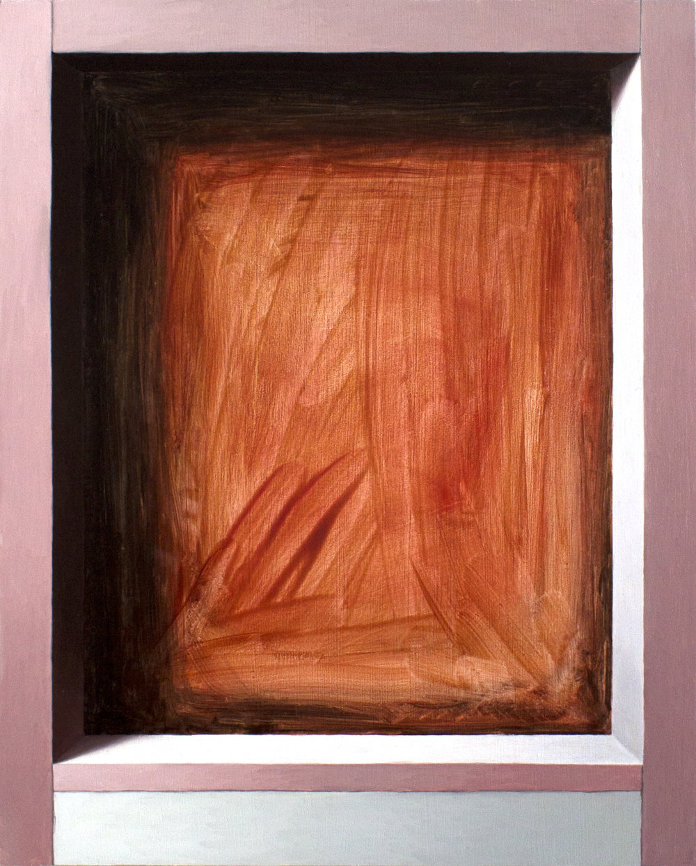 Exposed Interior No. 2   2017  Oil on wood panel  10 x 8 in