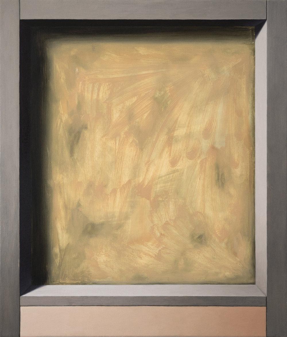 Exposed Interior (Gratis)   2017  Oil on canvas  19 x 16 in