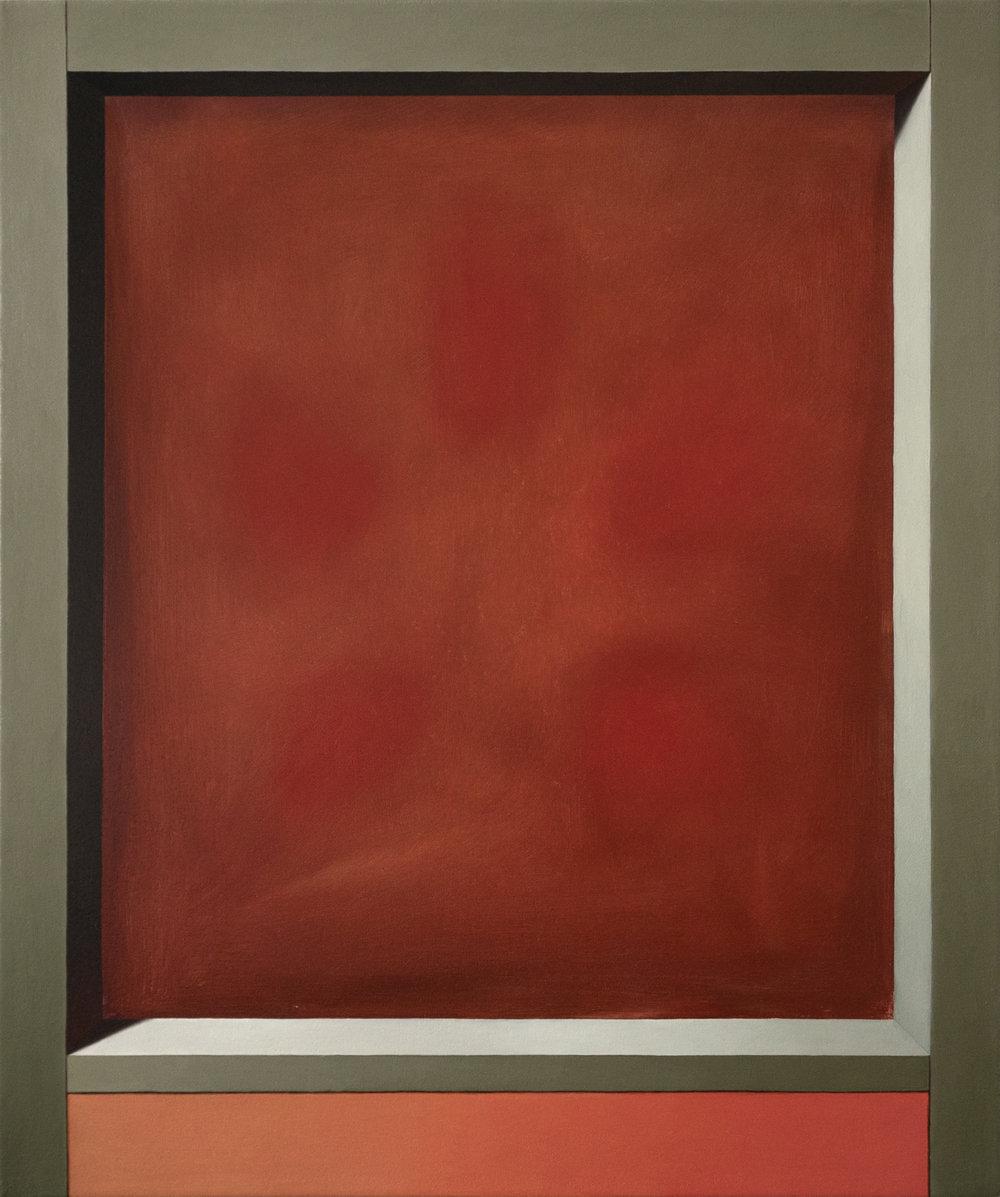 Exposed Interior (Passiflora)   2017  Oil on canvas  19 x 16 in