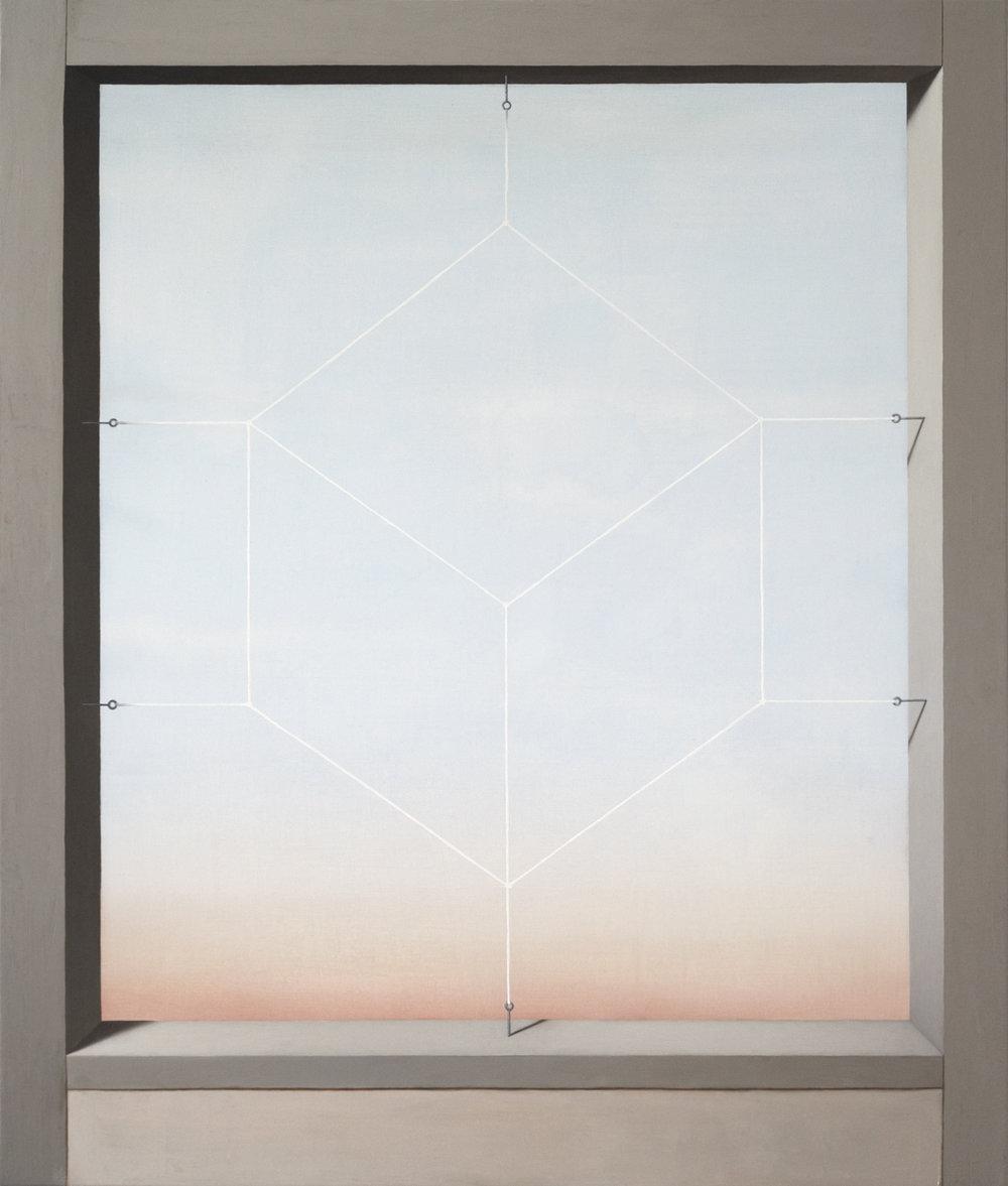 Portillon (Cube)  2017  Oil on canvas  27 x 23 in