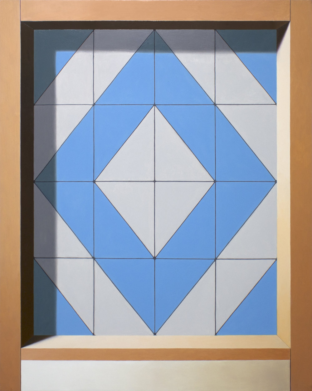 Threshold (Diamond)   2018  Oil on wood panel  20 x 16 in