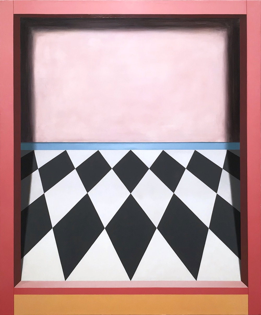Threshold (Tilt)   2018  Oil on canvas  46 x 38 in