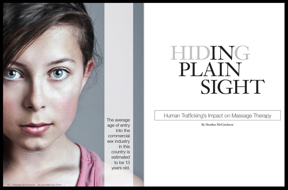 Hiding in plain sight:  human trafficking's impact on massage therapy