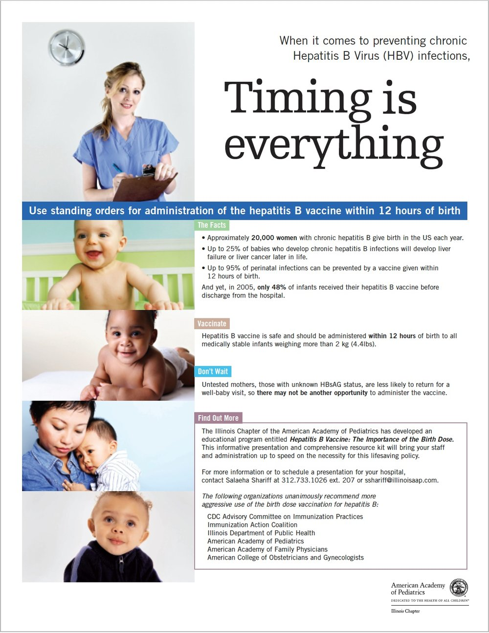 American Academy of pediatrics:  full-page periodical ad
