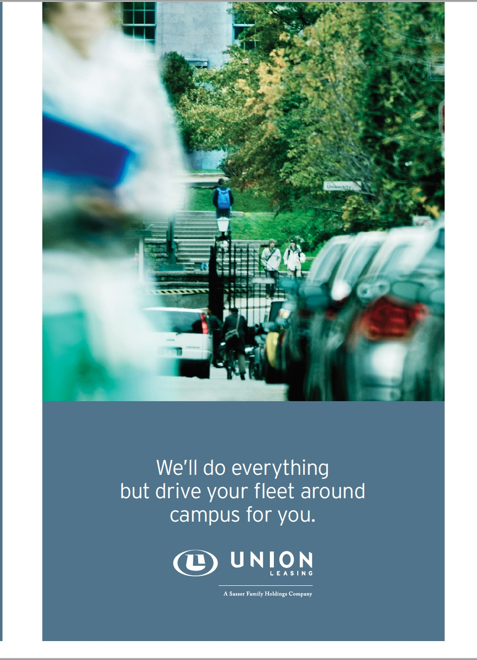 Union leasing:  brochure for college campuses