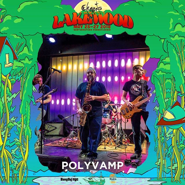 See you at #elementslakewood ! TICKET PRICES INCREASE this Friday April 27th so get your ticket now! Tickets via @elementsfestnyc . . #elementslakewood #polyvamp #musicfestival #livemusic #liveimprov #improvised #funk #rock #electronic #jazz #nyc #jam #dancemusic #keys #guitar #bass #drums #saxophone #percussion #tickets #northernpa