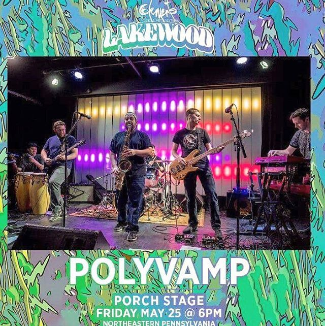 "ONLY 3 DAYS until we play the ""PORCH STAGE"" at @elementsfestnyc from 6-7:30pm!! Come out to see all the NYC bands you love including @badfacesmusic @spacebacon  @cousinearthmusic & @teddymidnight . . #elementslakewood #polyvamp #musicfestival #livemusic #liveimprov #improvised #funk #rock #electronic #jazz #nyc #jam #dancemusic #keys #guitar #bass #drums #saxophone #percussion #tickets #northernpa"