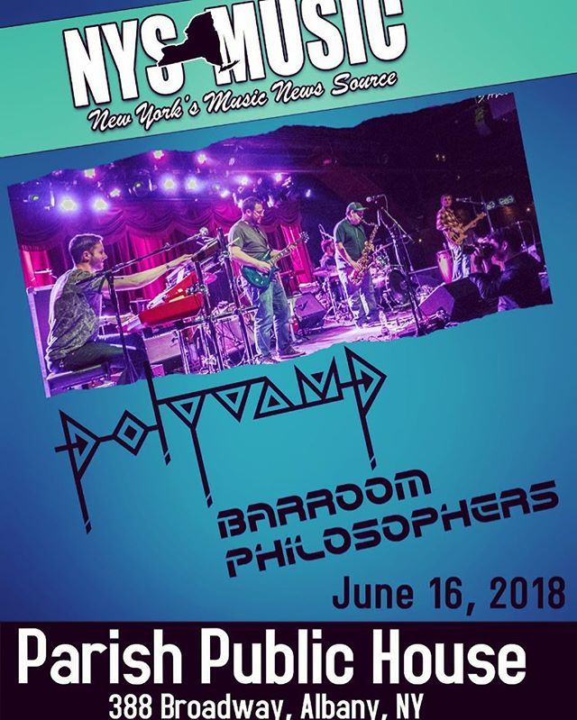 In just 10 days on Saturday 6/16 we make our upstate NY debut at @parishpublichouse in Albany!! We can't wait to bring our funky grooves up the Thruway to you guys! With the awesome @barroomphilosophers ! @nystatemusic #livemusic #upstateNY #albany