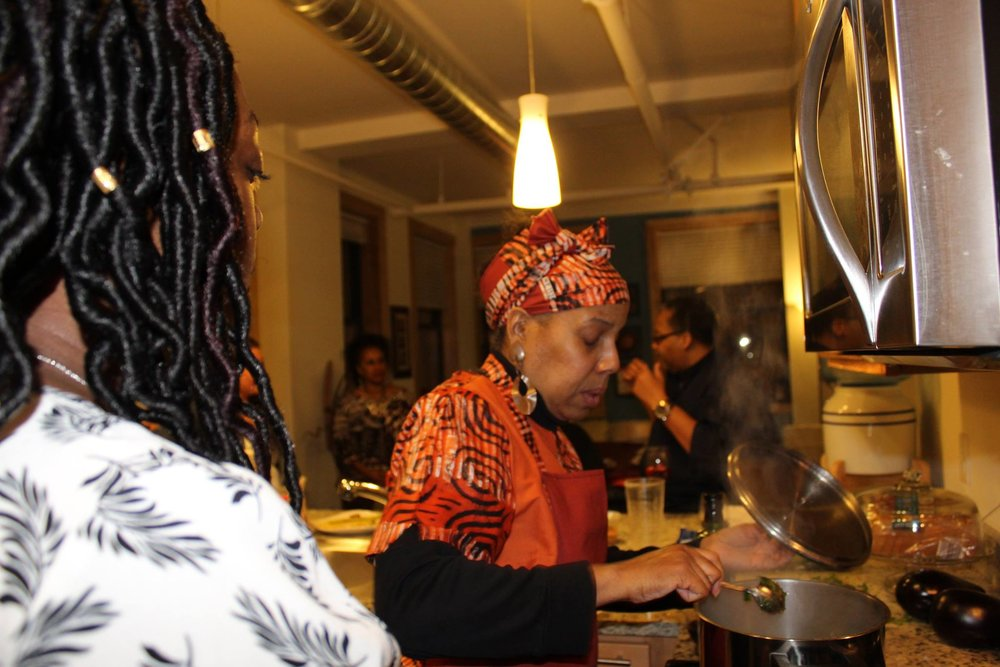 Adina's Vegan Cuisine at Cooking with Tavon