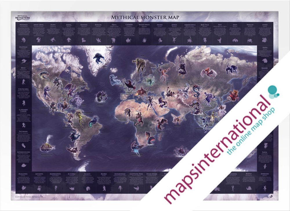 Mythical Monster Map on Maps International