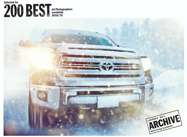 Super pumped to share 1 of 3 images I had included in Luerzer's Archive 200 Best ad photographers world wide 2018/19. #pumped #photographer #adphotography #luerzersarchive #snow #snowing #truck #toyotatundra #toyota #blessed #winter #adventure #neverstopexploring