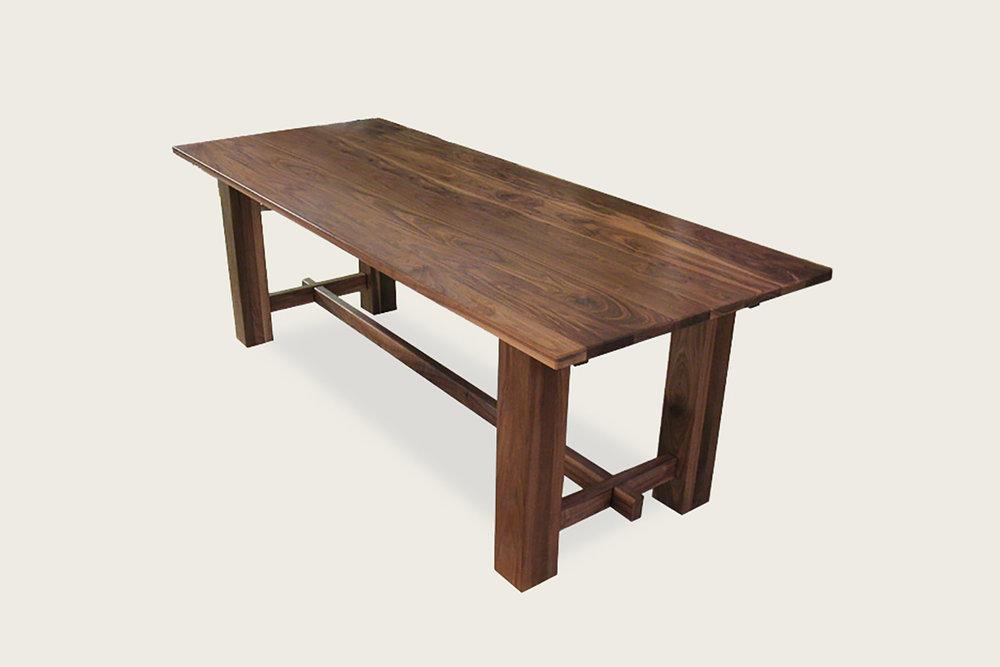 Feast Dining Table in solid walnut - Speke Klein