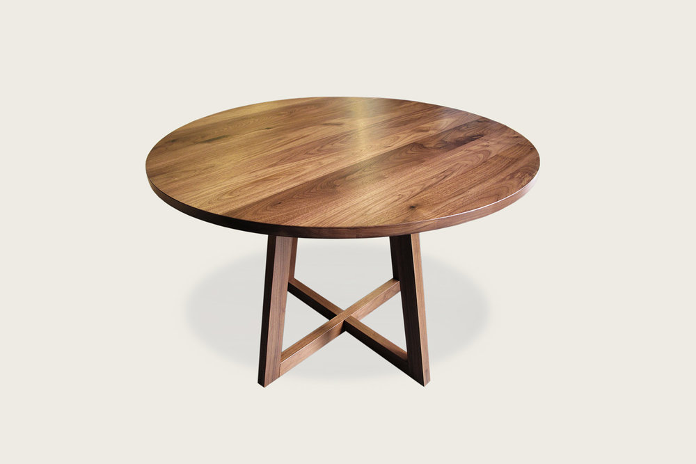 Finn Round Pedestal Dining Table in solid walnut - Speke Klein