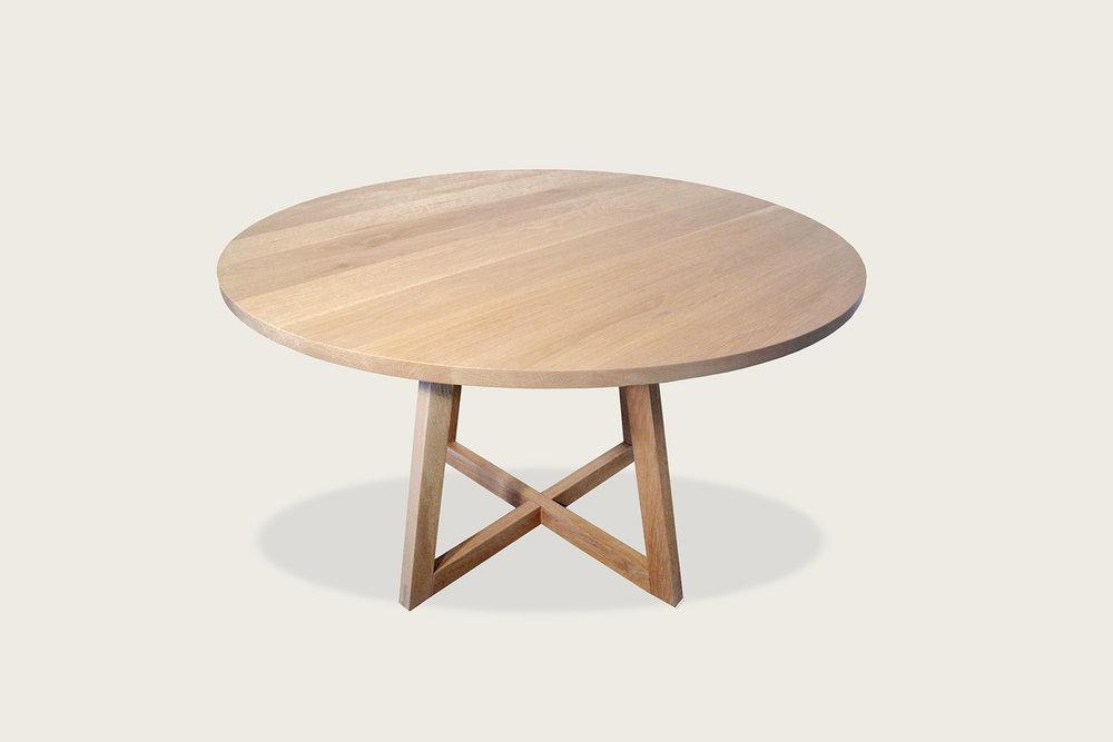 Finn Round Pedestal Dining Table in solid oak - Speke Klein