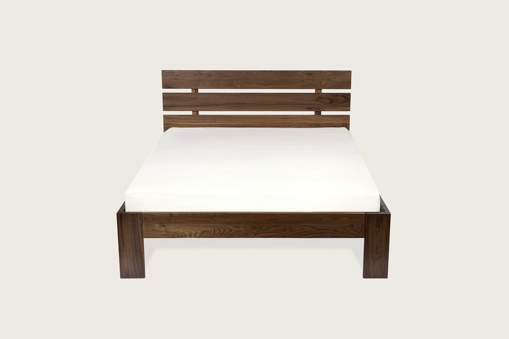 Rowlands Bed in solid walnut  - Speke Klein