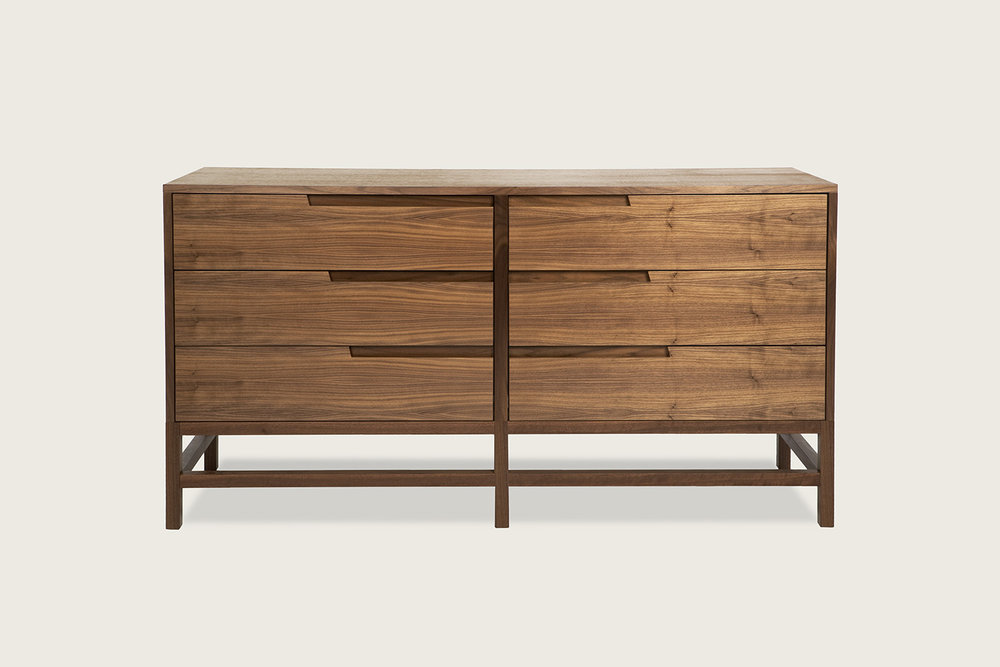 Linea 6-Drawer Dresser in walnut - Speke Klein