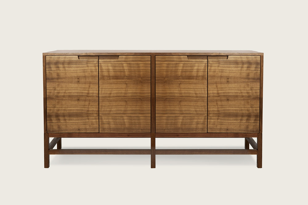 Linea 4-Door Cabinet in walnut - Speke Klein