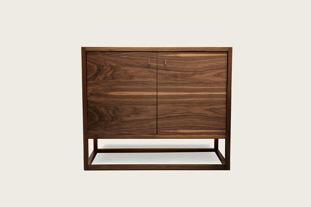 Petits Fours 2-Door Cabinet in walnut - Speke Klein