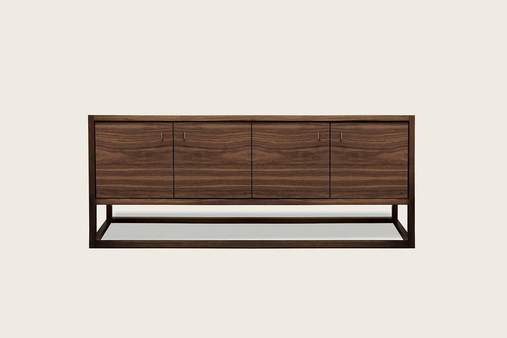 Petits Fours 4-Door Cabinet in walnut - Speke Klein