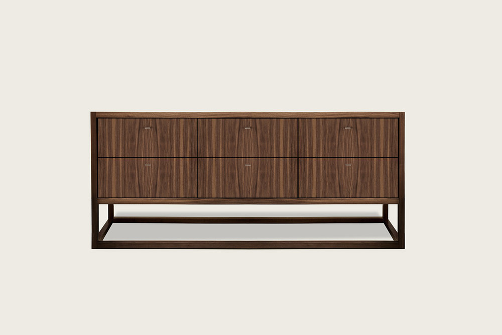 Petits Fours 6-Drawer Dresser in walnut - Speke Klein