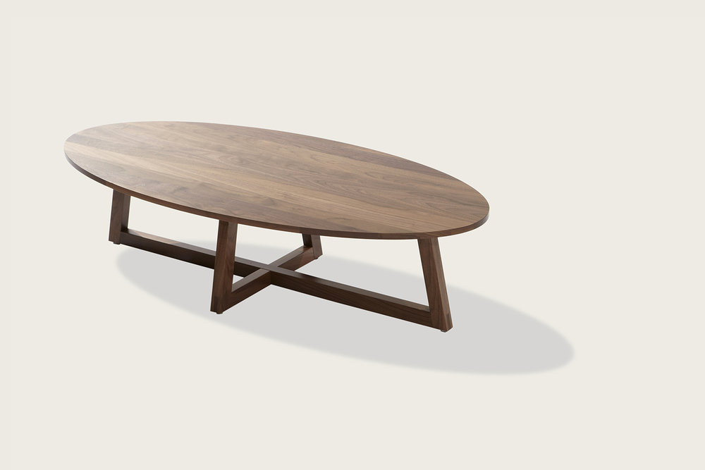 Finn Oval Coffee Table in solid walnut - Speke Klein