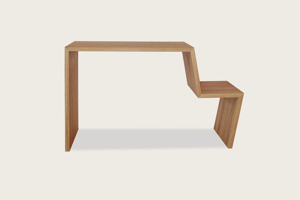 +Console in solid oak - Speke Klein