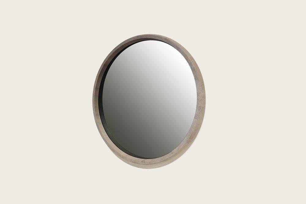 Rise Mirror in Ghost Oak with smoke grey mirror - Speke Klein