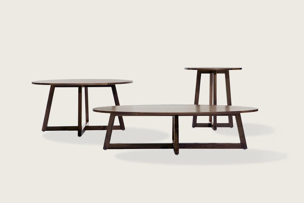Finn Coffee & Side Tables in solid walnut - Speke Klein
