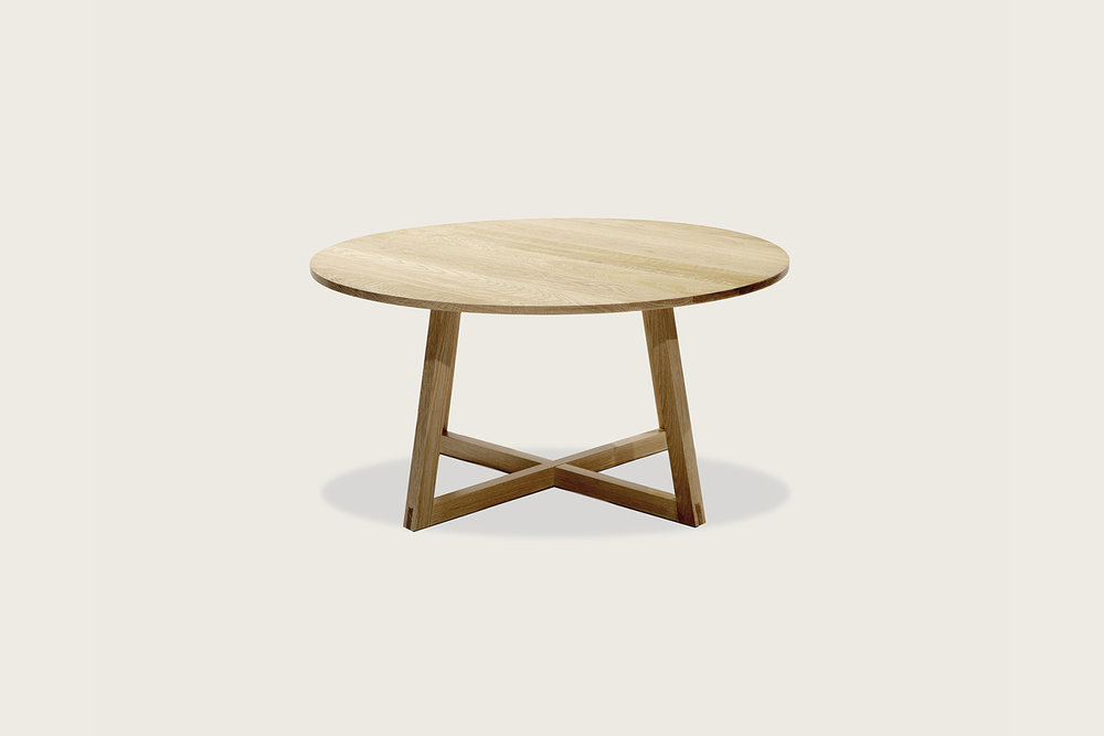 """Finn 36"""" Coffee Table in solid oak - Speke Klein"""