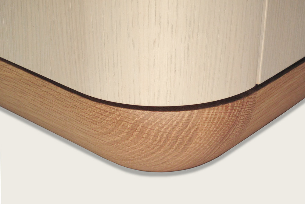 Copy of Contour 4-Door Credenza in oak with quartz top (detail) - Speke Klein