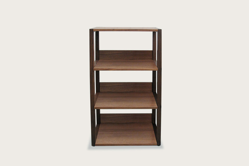 Strata Shelving Unit - 4-tier in walnut - Speke Klein