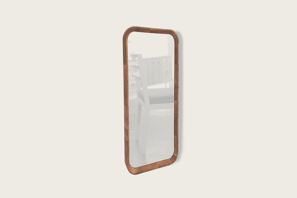 Gibson Mirror in Natural Oak with silver mirror - Speke Klein