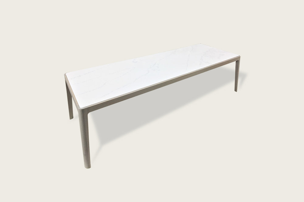 Stadia Rectangular Coffee Table in solid oak with quartz top - Speke Klein
