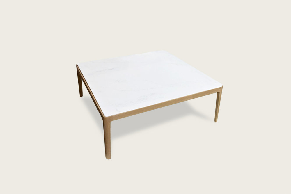 Stadia Square Coffee Table in solid oak with quartz top - Speke Klein