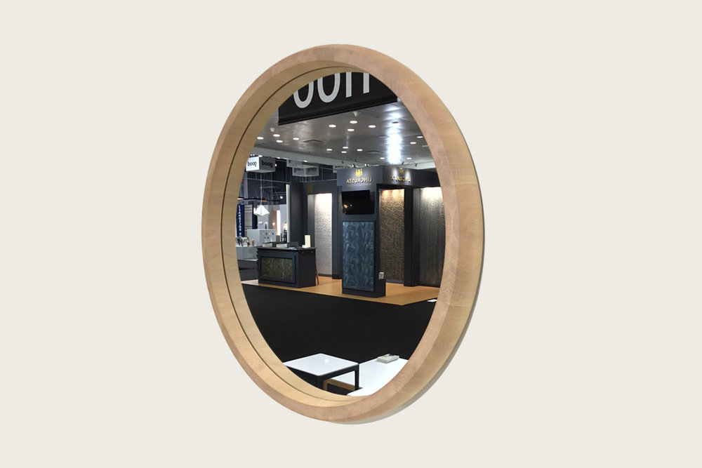 Rise Mirror in Natural Oak with silver mirror - Speke Klein