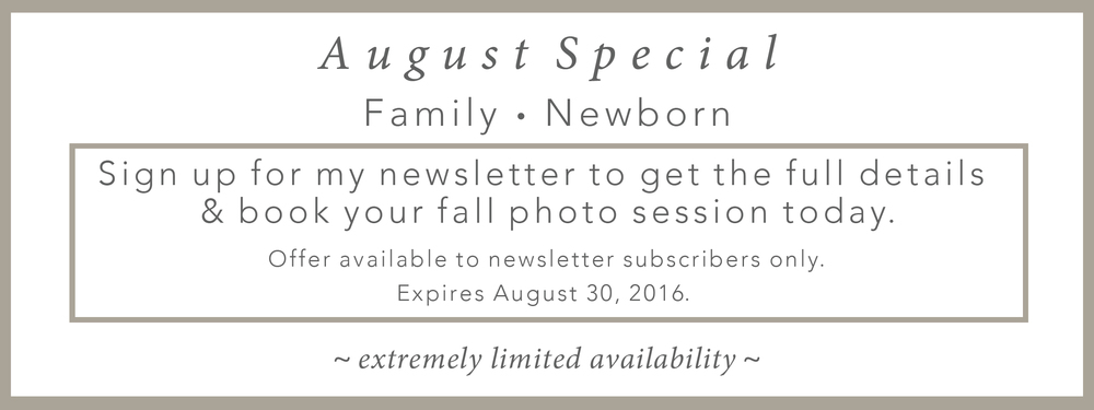 Albuquerque Family Newborn Photographer Fall Special Photo Session