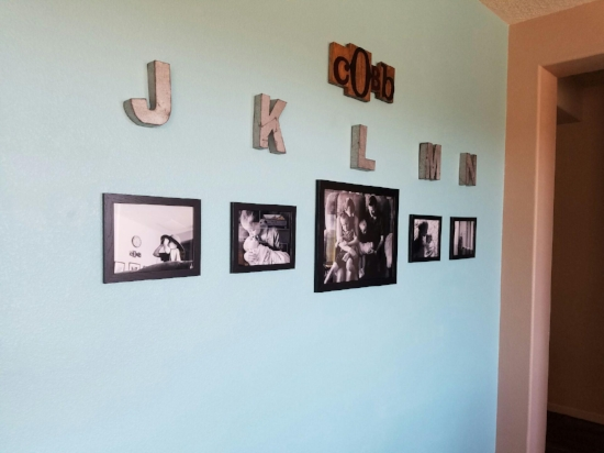 Thank you, Kaytee, for sending me a photo of your wall!