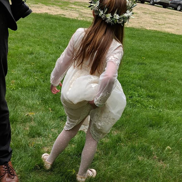 Even flower girls get wedgies.  #noshame