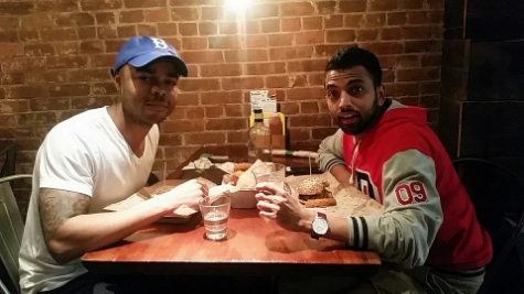 "Lunch with comedian, MTV2's ""Guy Code"", and ""Wild N Out"" cast member, Akaash Singh. You can find him on Twitter and Instagram  @akaashsingh ."