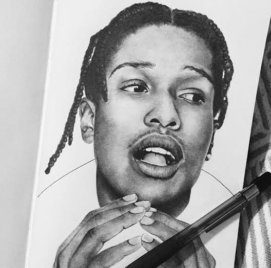 ASAP Rocky. Karla enjoys doing pieces inspired by pop culture as well.