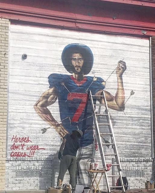 St Kaepernick Mural | Location: Ralph David Abernathy and Peeples in the West End