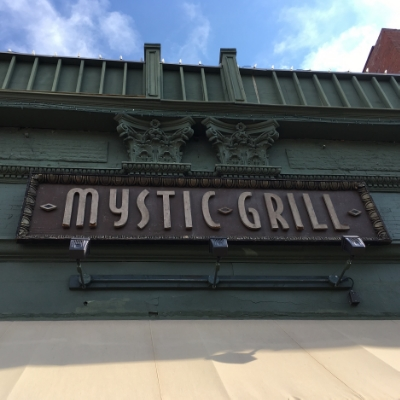 The façade of the real Mystic Grill.