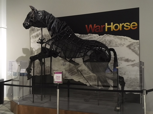 War Horse, a puppet worn by two puppeteers and sturdy enough for a human actor to ride.