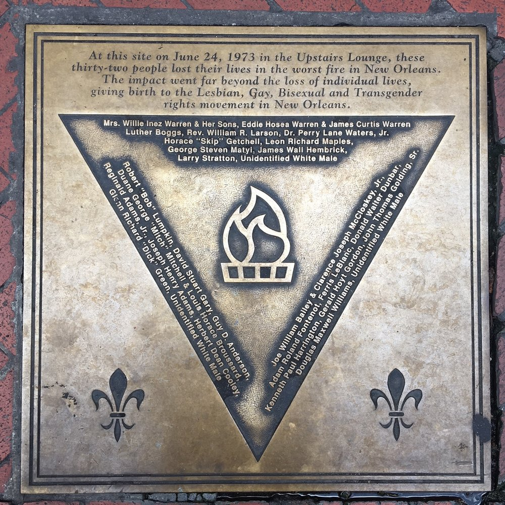 The memorial plaque located at the site of the fire. Photo: Courtesy of Ryan Prechter