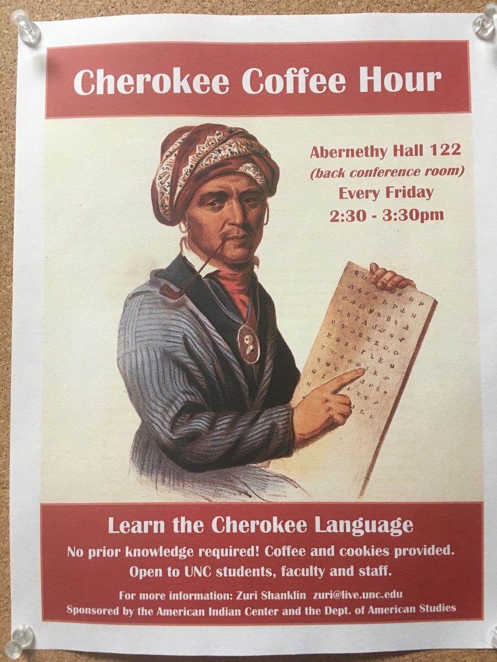 Ben Frey started a Cherokee language coffee hour at UNC.