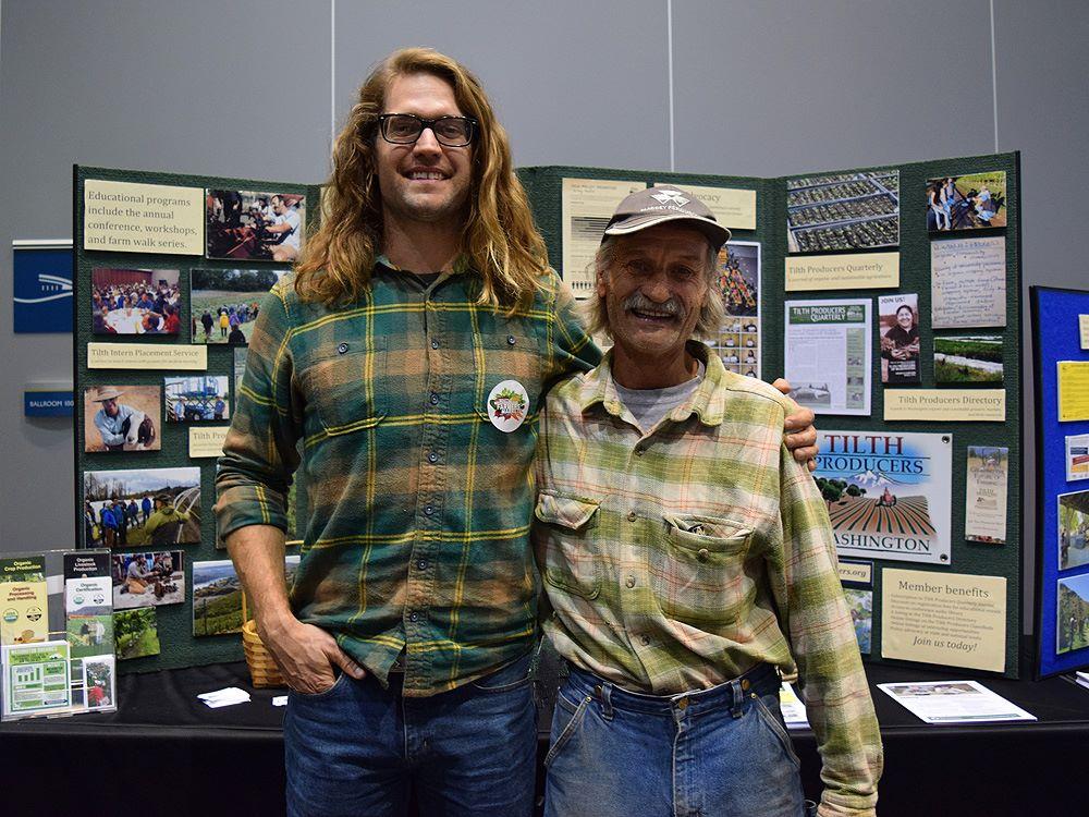 Farmer Chris with mentor Grant Gibbs